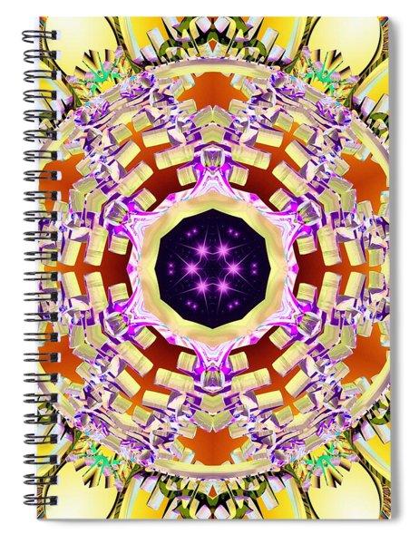 Spiral Notebook featuring the digital art Magick Souls by Derek Gedney