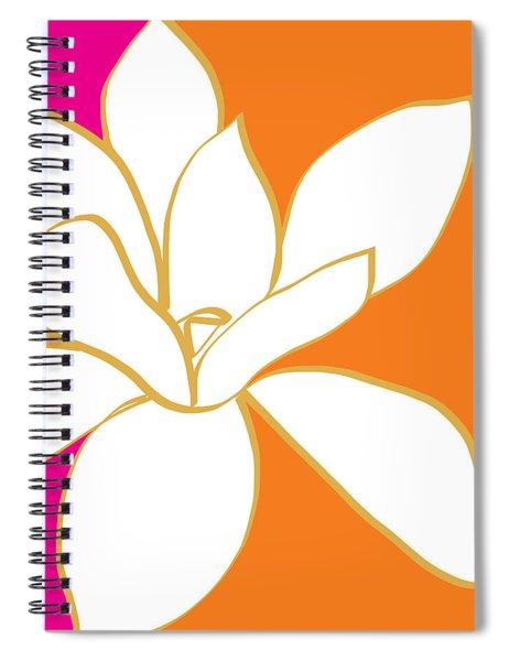 Magnolia 3- Colorful Flower Art Spiral Notebook