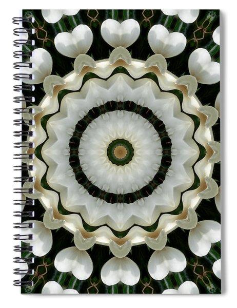 Magnolia Hearts Mandala Spiral Notebook