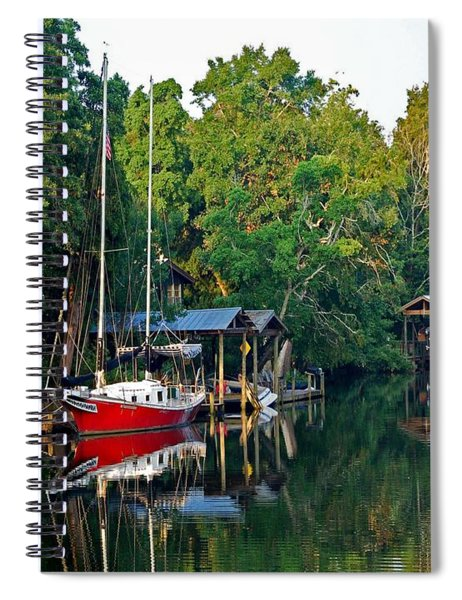Magnolia Red Boat Spiral Notebook