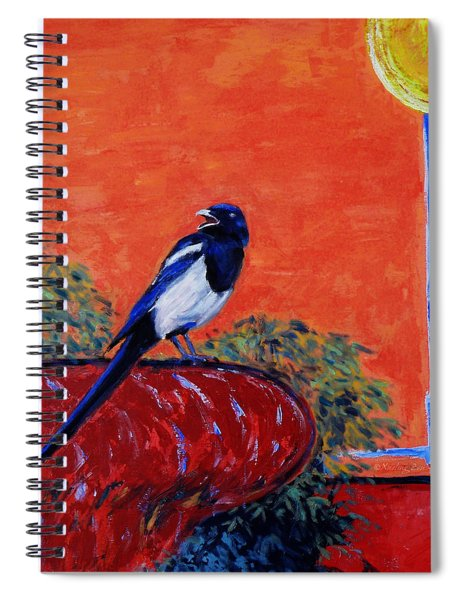 Magpie Singing At The Bath Spiral Notebook