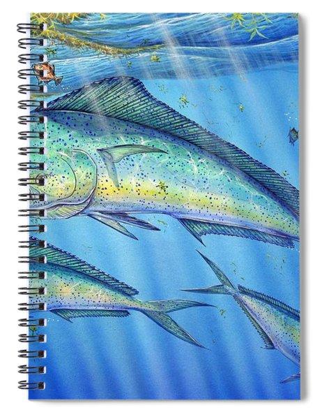 Mahi Mahi In Sargassum Spiral Notebook