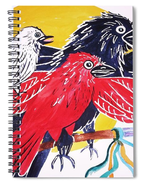 Raven As Maiden Mother And Crone Spiral Notebook