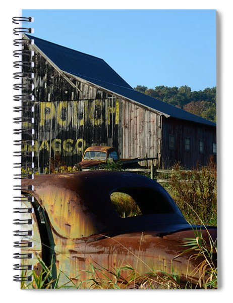 Mail Pouch Barn And Old Cars Spiral Notebook