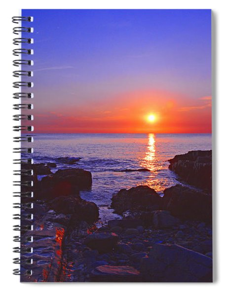 Maine Coast Sunrise Spiral Notebook