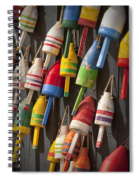 Maine Fishing Buoys Spiral Notebook