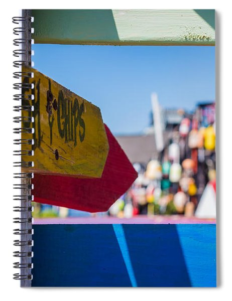 Spiral Notebook featuring the photograph Maine Lobster by Robert Bellomy