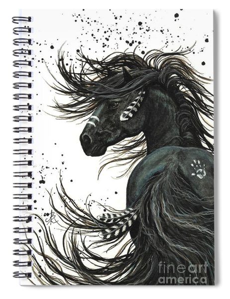 Majestic Spirit Horse  Spiral Notebook by AmyLyn Bihrle