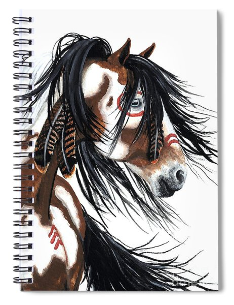 Majestic Pinto Horse Spiral Notebook