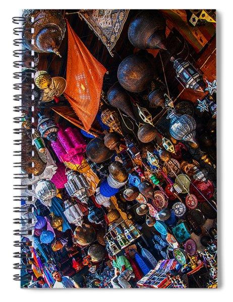 Marrakech Lanterns Spiral Notebook