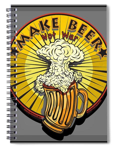 Make Beer Not War Pop Art Spiral Notebook