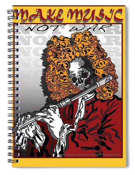 Make Music Not War Pop Art Spiral Notebook