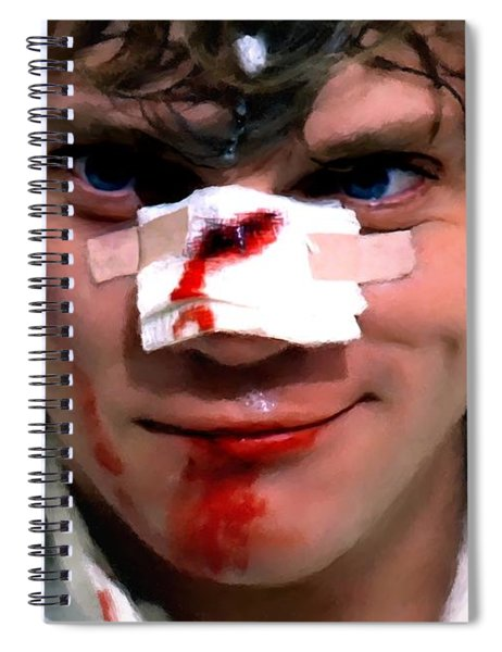 Malcolm Mcdowell As Alex In The Film Clockwork Orange By Stanley Kubrick 1971 Spiral Notebook