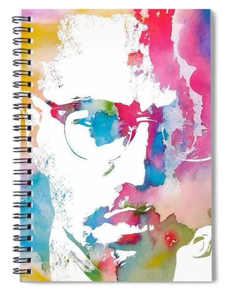 Malcolm X Watercolor Spiral Notebook