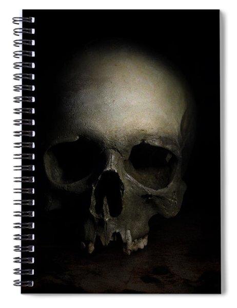 Male Skull Spiral Notebook