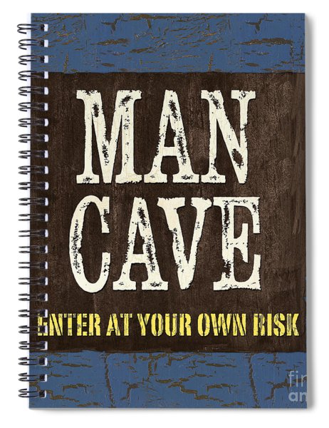 Man Cave Enter At Your Own Risk Spiral Notebook