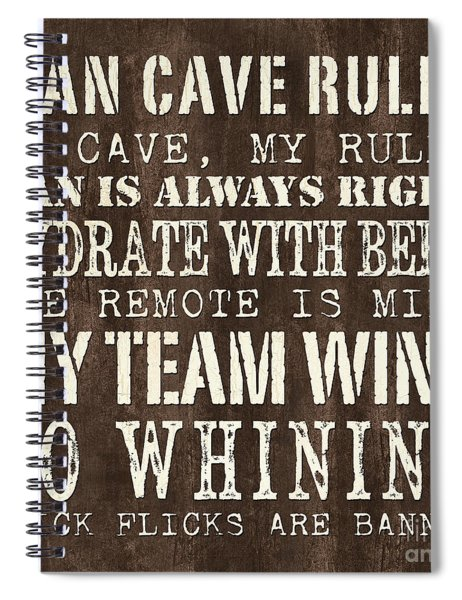 Man Cave Rules 1 Spiral Notebook