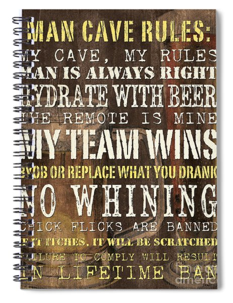 Man Cave Rules 2 Spiral Notebook
