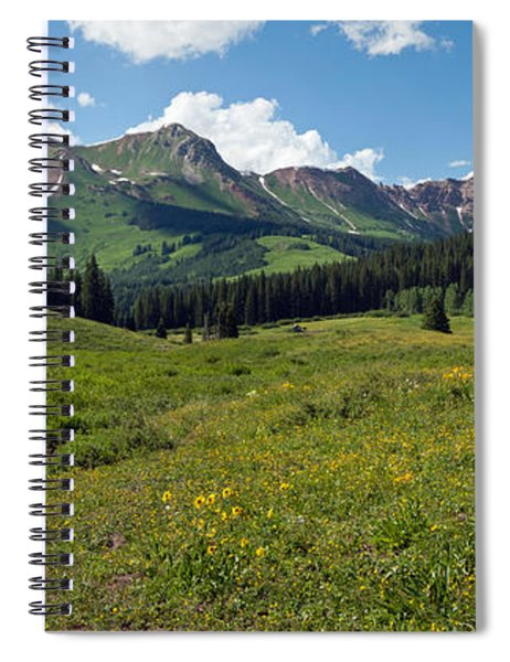 Man Fly-fishing In Slate River, Crested Spiral Notebook