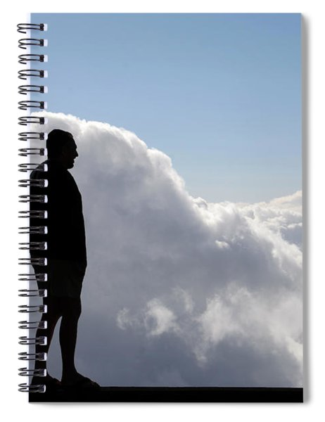Man In The Clouds Spiral Notebook