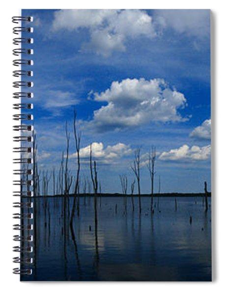 Manasquan Reservoir Panorama Spiral Notebook