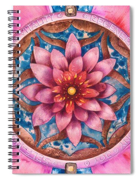 Mandala Of Health Spiral Notebook