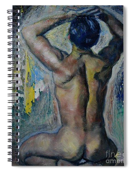 Man's Back Spiral Notebook
