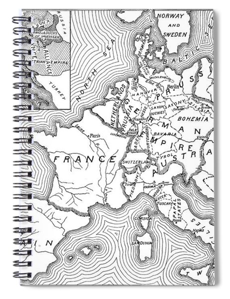 Map Of Europe, 1812-1815 Spiral Notebook