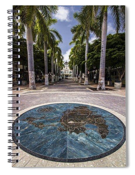Map Of St. Maarten In The Boardwalk Spiral Notebook