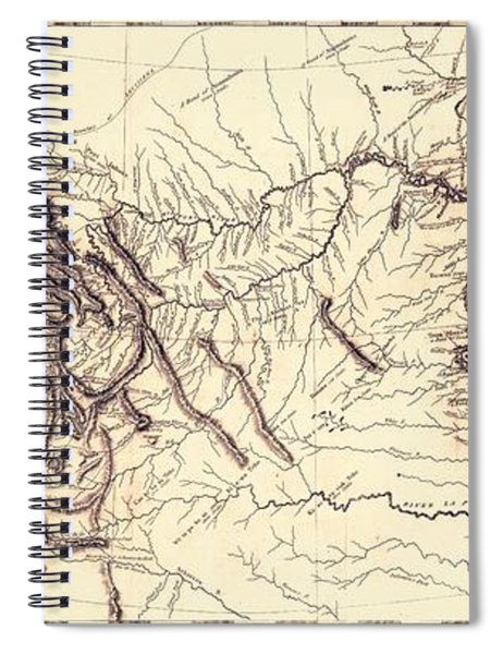 Map Of The Lewis And Clark American Expedition, 1804-1806, Published 1814 Spiral Notebook