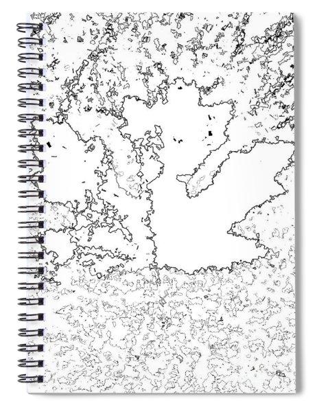 Maple Leaf Black Lines Spiral Notebook