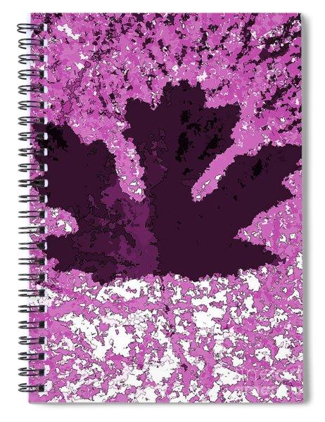 Maple Leaf Purple Pop Poster Hues  Spiral Notebook