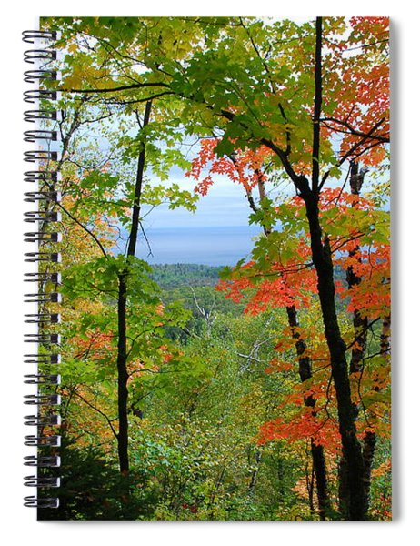 Maples Against Lake Superior - Tettegouche State Park Spiral Notebook