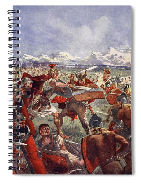 Marcellus Duel With Virdumarus Spiral Notebook