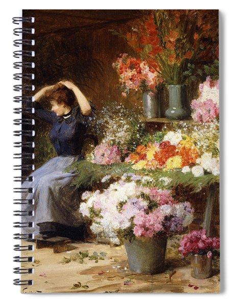 Marchande De Fleurs Spiral Notebook
