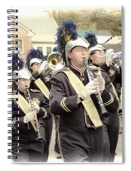 Marching Band - Shepherd University Ram Band At Homecoming 2012 Spiral Notebook