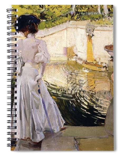 Maria Looking At The Fishes Spiral Notebook