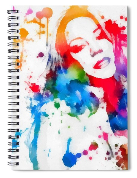 Mariah Carey Watercolor Paint Splatter Spiral Notebook