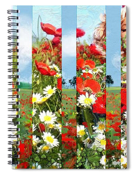 Marilyn In Poppies 1 Spiral Notebook