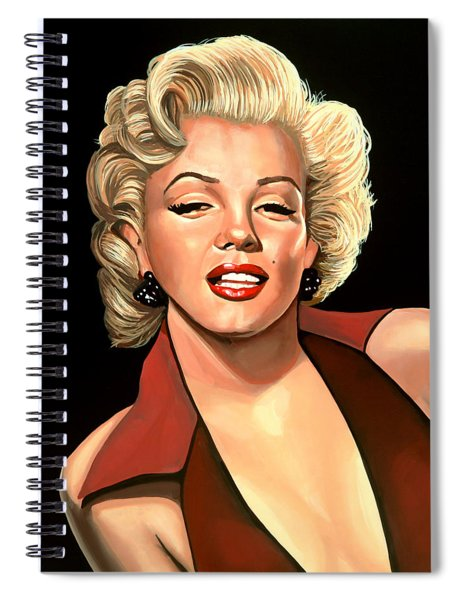 Marilyn Monroe 4 Spiral Notebook by Paul Meijering