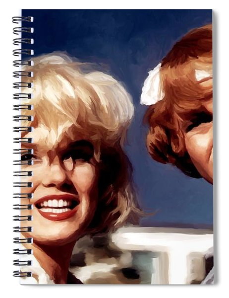 Marilyn Monroe And Jack Lemon Portrait Spiral Notebook