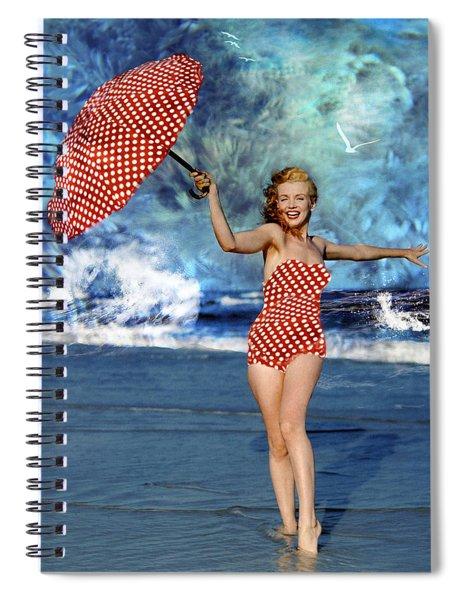 Marilyn Monroe - On The Beach Spiral Notebook