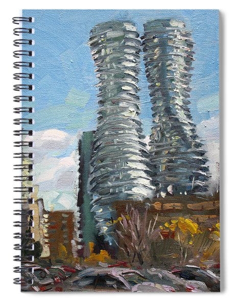 Marilyn Monroe Towers In Mississauga Spiral Notebook
