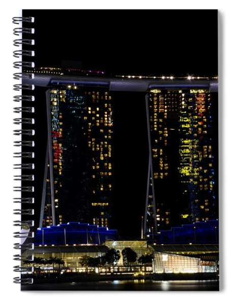 Marina Bay Sands Integrated Resort Hotel And Casino And Artscience Museum Singapore Marina Bay Spiral Notebook
