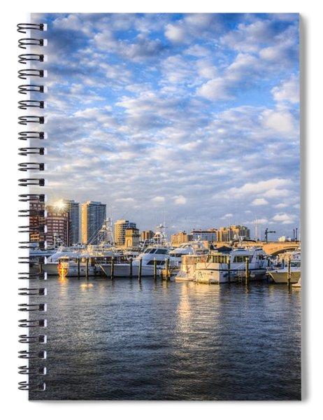Marina In Palm Beach Spiral Notebook