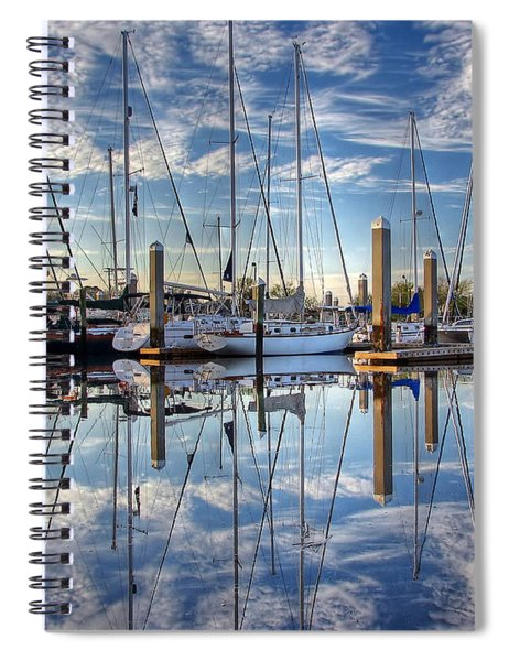 Marina Morning Reflections Spiral Notebook