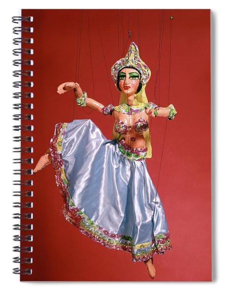 Marionette Puppet Of Woman Belly Dancer Spiral Notebook