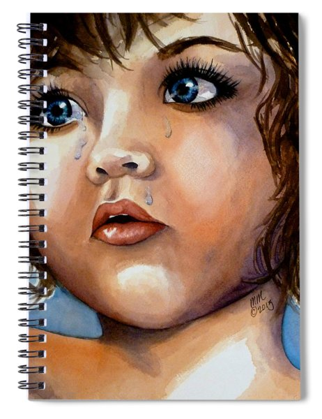 Crying Blue Eyes Spiral Notebook