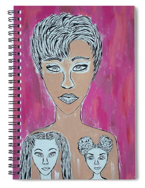 Mother And Daughters Painting And Drawing Spiral Notebook