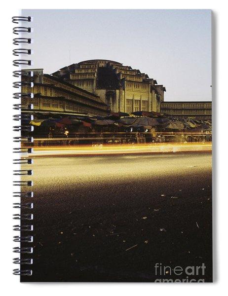 Market In Phnom Penh  Cambodia Spiral Notebook
